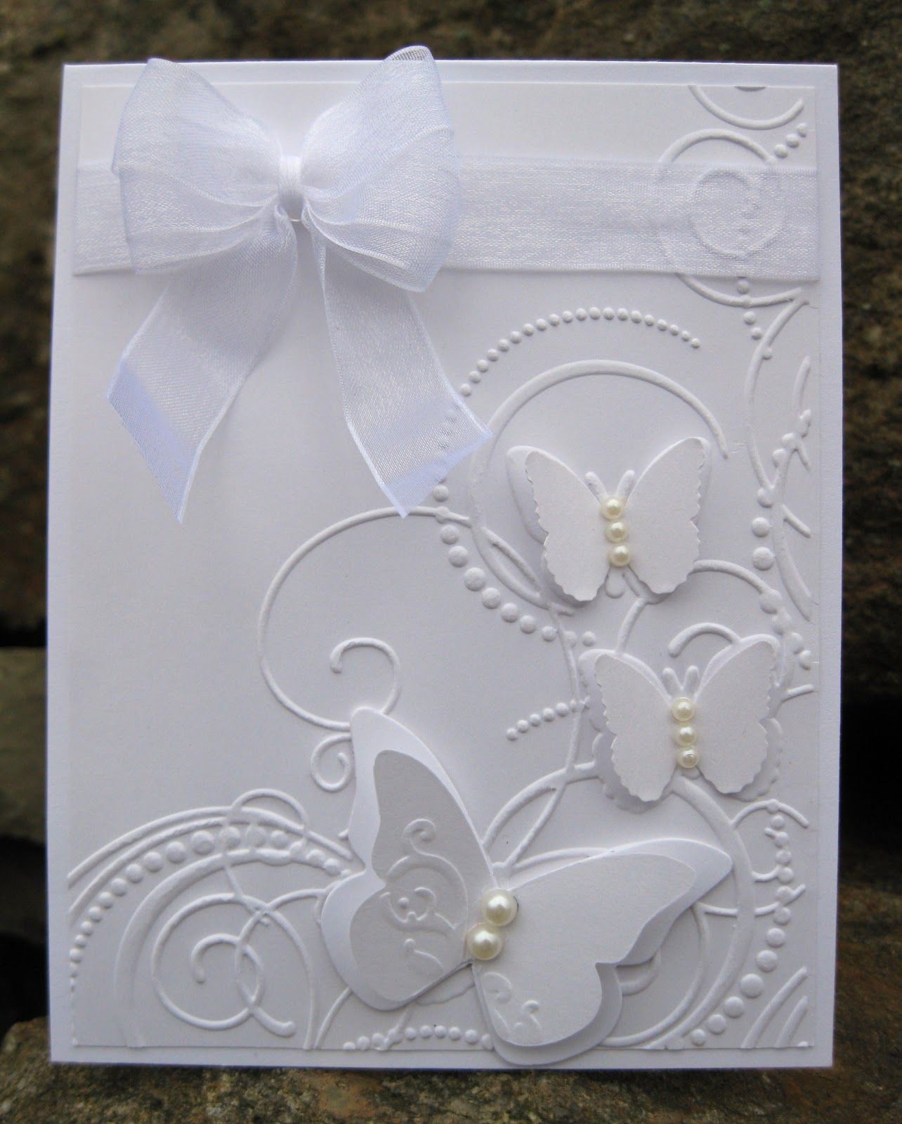 Inkee Paws White On White Card So Classy Elegant Could Be Used