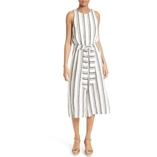d98d2a4f1d02 Women s Alice + Olivia Franny Stripe Linen Jumpsuit (6