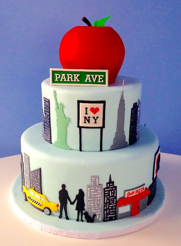 Superb New York City Themed Cakes New York City Themed Cake Celebrates Birthday Cards Printable Riciscafe Filternl