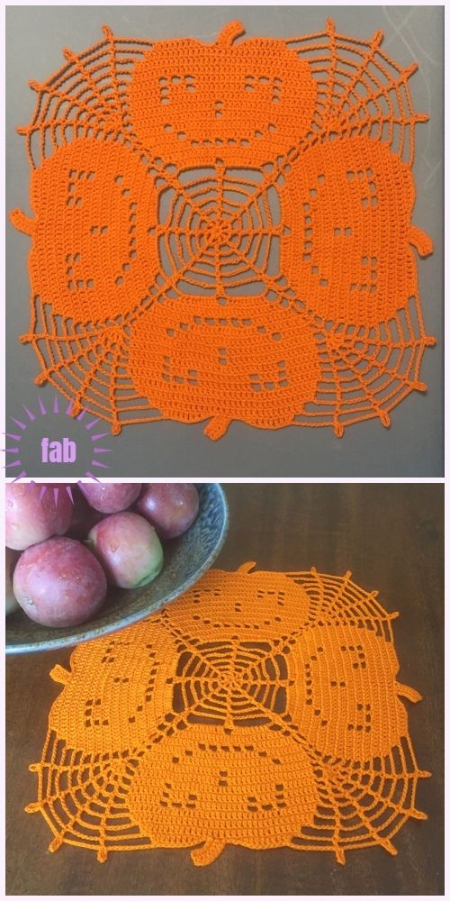 Halloween Crochet Pumpkin Doily Free Crochet Patterns | Crochet ...