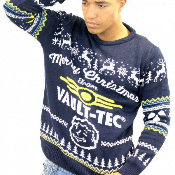 Vault Tec Christmas Sweater.Pin On Ugly Christmas Sweaters Every Geek Will Want