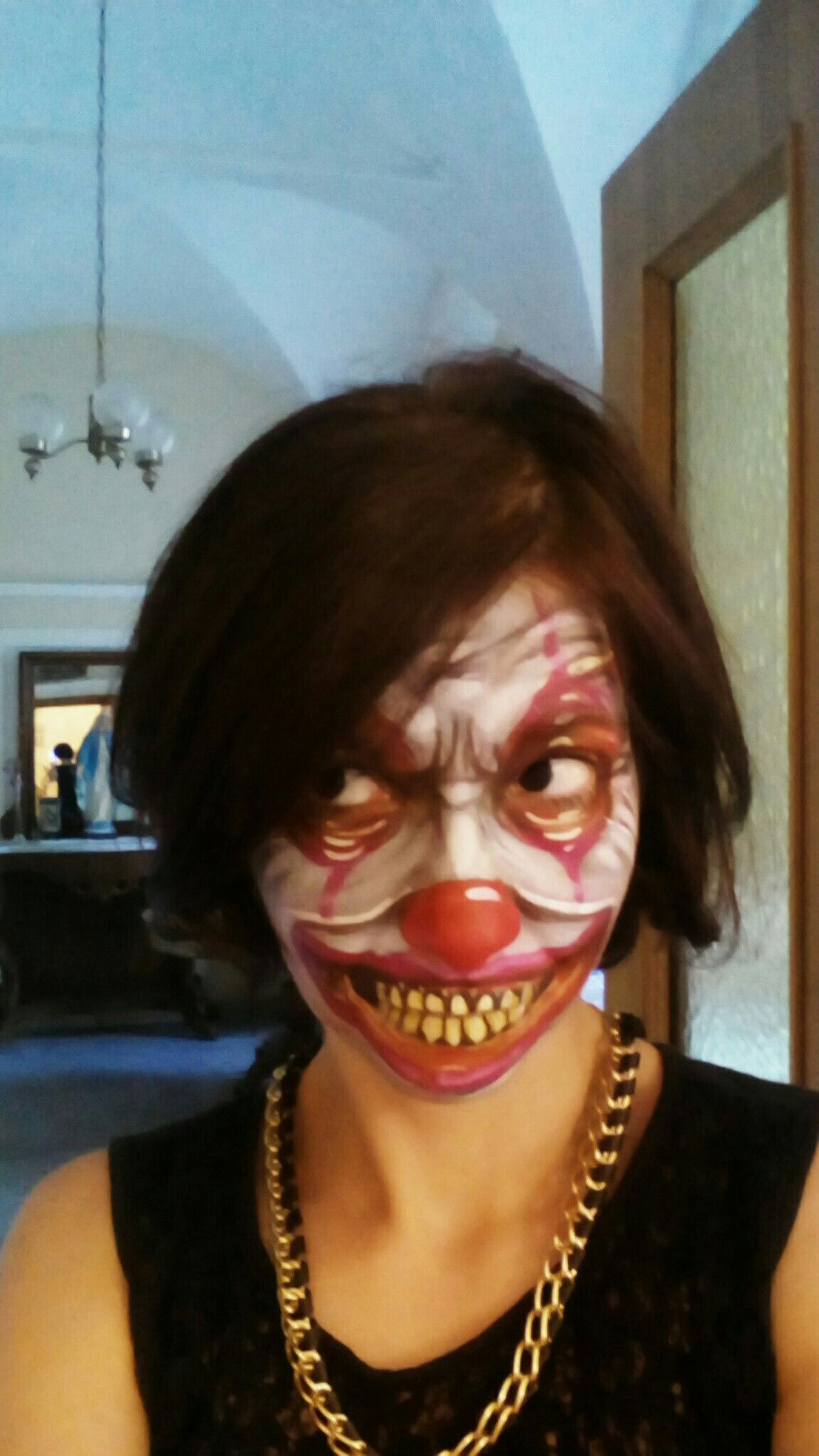 Crazy scary clown #scary #halloween #clown #facepainting | Works ...