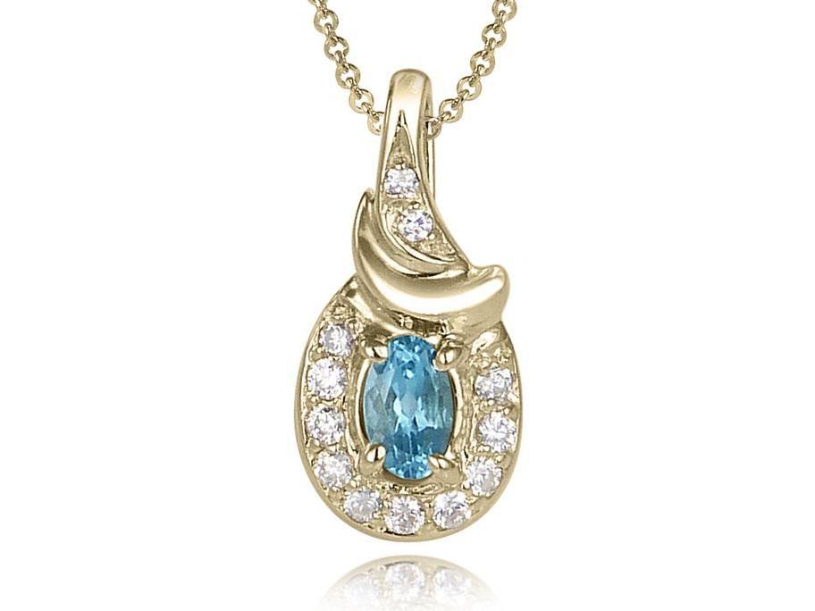 10k or Jaune Clé avec pendentif en forme de cœur