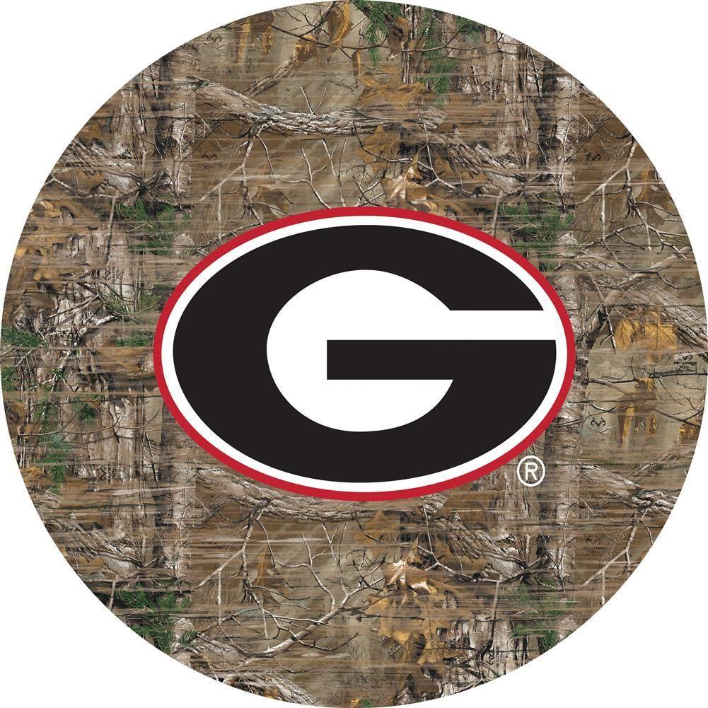 Georgia Bulldogs Uga Wall Art Realtree Camo Round Sign Realtree Camo Georgia Bulldogs Art