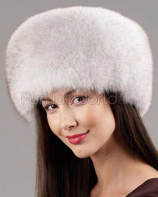 Natural Blue Fox Fox All Fur Zhivago Pill Box Hat - Blue Fox Fur 631d78f0b75