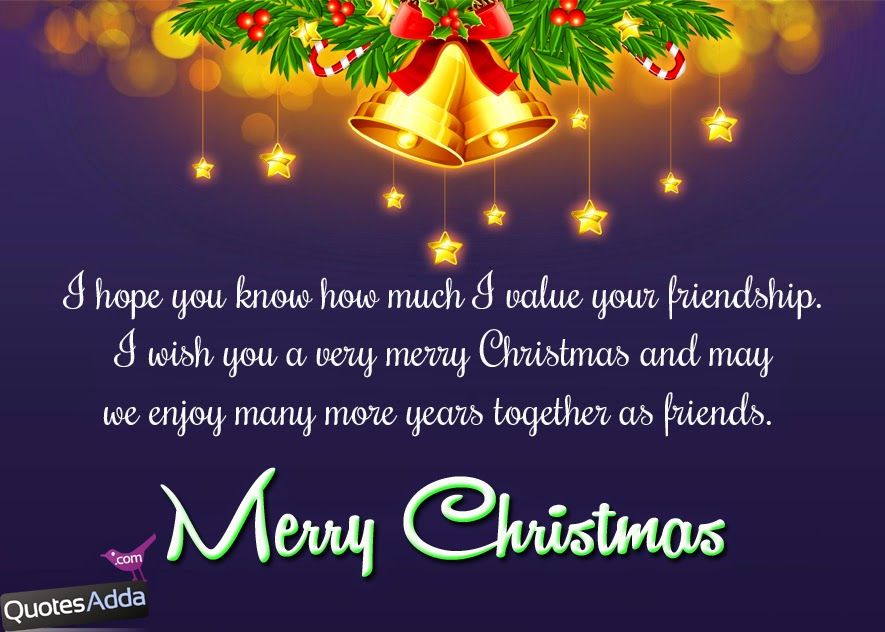 High Quality Christmas Quotes For Friends | English Merry Christmas Greetings For Best  Friends .