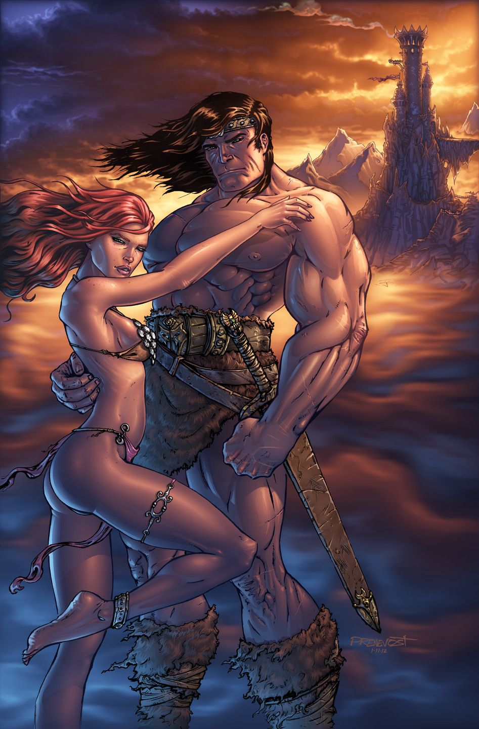 Conan & Red Sonja by ~warballoon