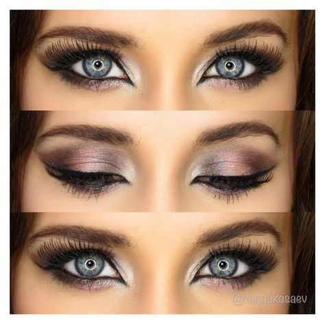 Beautiful makeup for blue eyes, pink metallic naked 3 palette makeup... ❤ liked on Polyvore featuring beauty products, makeup, eye makeup, eyes, beauty, makeup/nails, filler and palette makeup