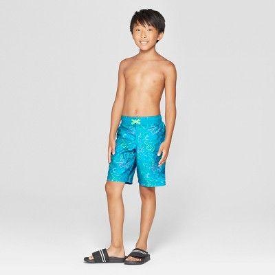 9ffce563c606c Boys' Neon Sharks Swim Trunks - Cat & Jack Blue M | Boys underwear ...