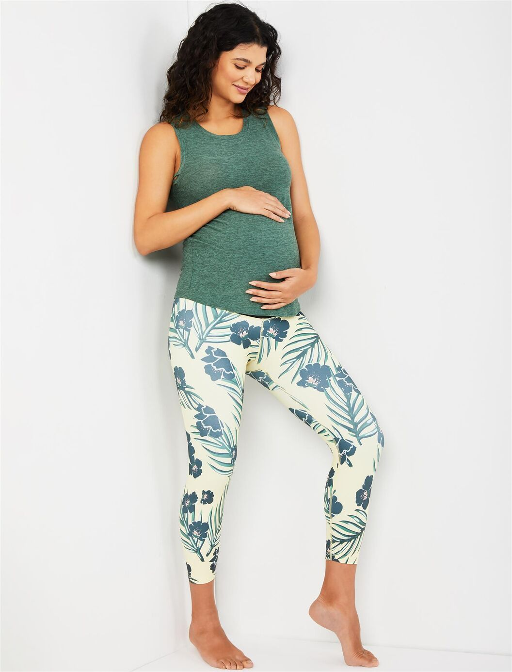 Beyond the bump fold over belly maternity leggings