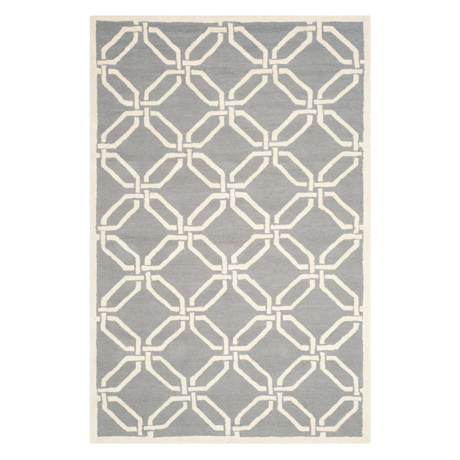 Safavieh Cambridge Cam311 Indoor Area Rug Dark Gray Ivory Wool