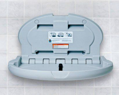 Koala Kare Kb208 01 Changing Station 34 X 21 Horizontal Oval Surface Mounted Gray In 2020 Baby Changing Station Changing Station Baby Changing