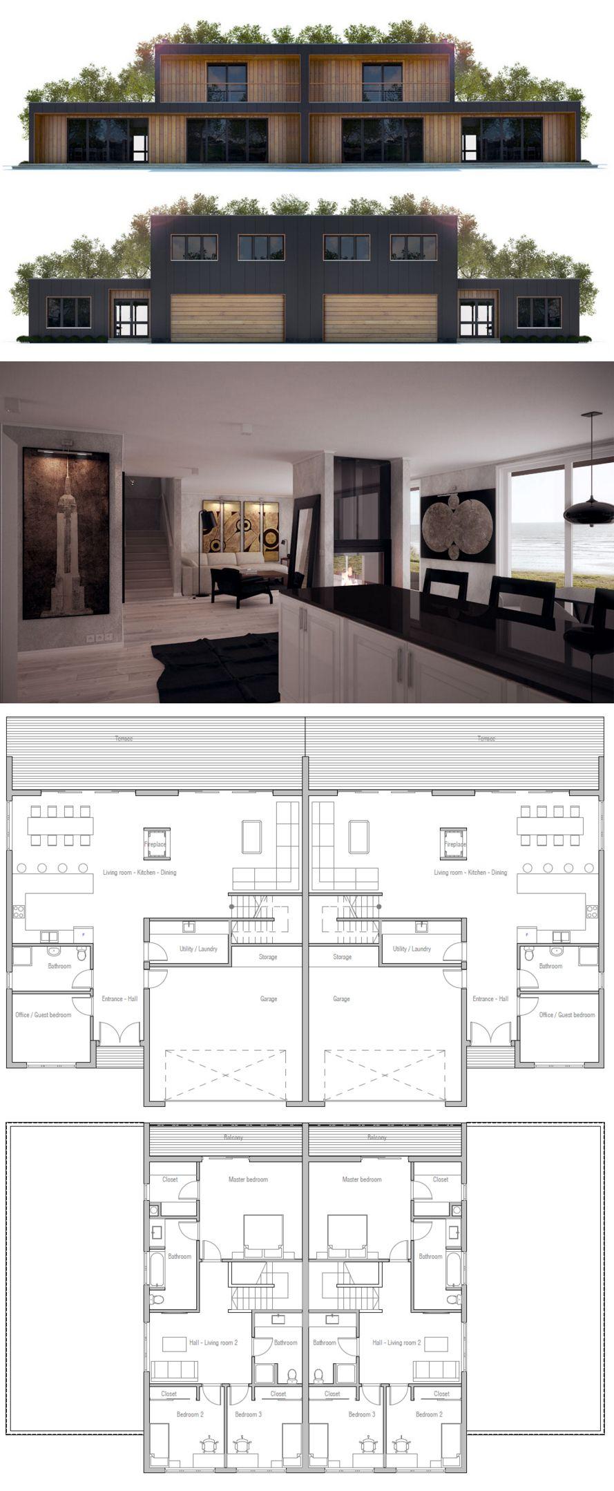 Doppelhaus | two families | Pinterest | Grundrisse, Haus pläne und ...