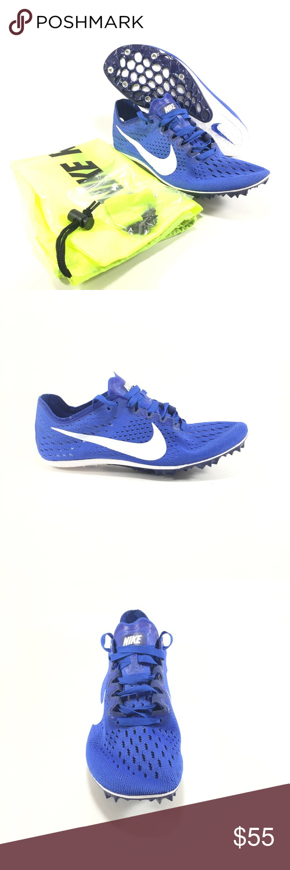 835997-411 Nike Zoom Victory 3 Track Running Spikes Blue White SZ