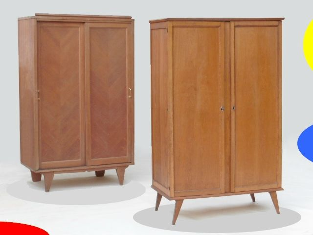 armoire penderie vintage style scandinave meubles design vintage scandinave art d co. Black Bedroom Furniture Sets. Home Design Ideas