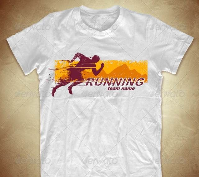 Grunge T-shirt design with running athlete | T-Shirt Design ...