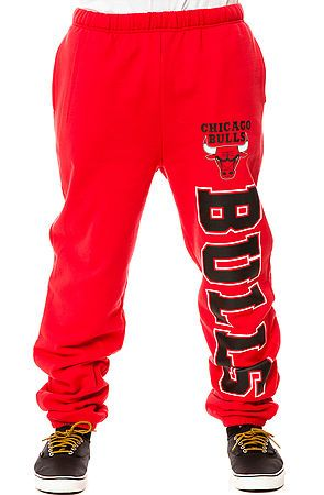 af122a8516bb5 Mitchell   Ness Sweatpants Chicago Bulls in Red Use Rep Code   theartfuldamsel for discount