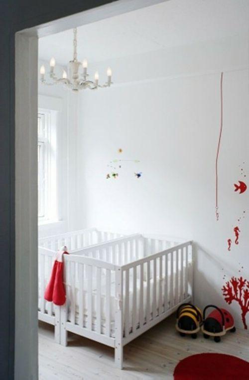 12 herrliche babyzimmer design ideen für zwillinge oder mehrlinge ... - Kronleuchter Kinderzimmer Weis