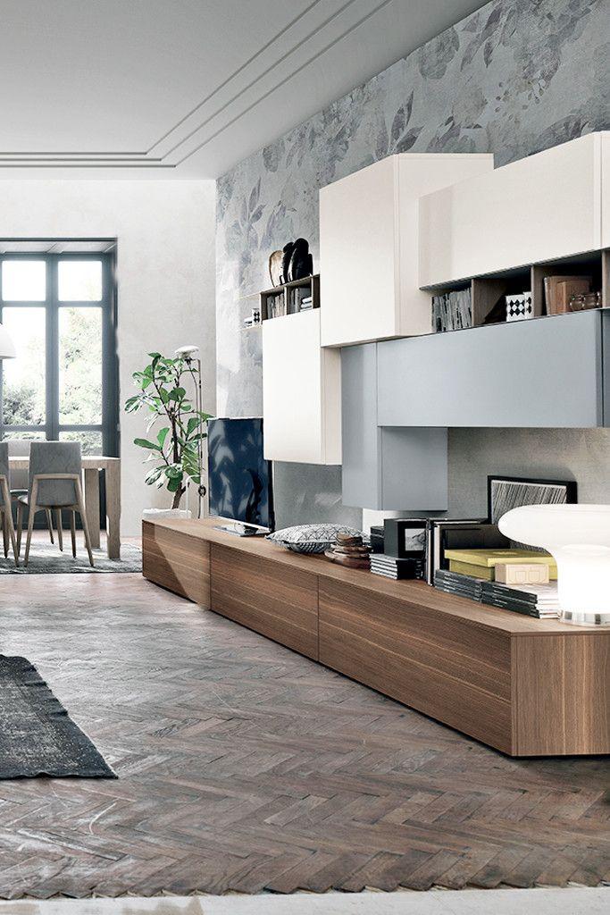 Composizione soggiorno a068 finiture disponibili for Composizione soggiorno moderno