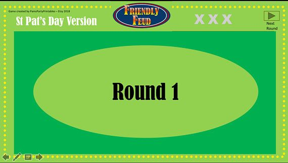 St  Patricks Day Friendly Feud - Interactive PowerPoint Game