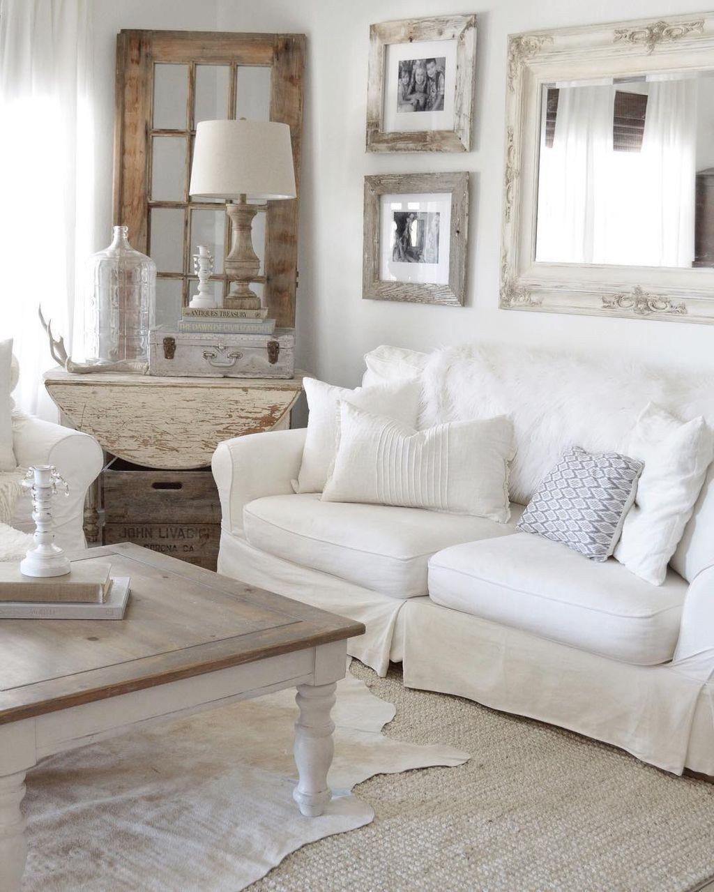 88 Enchanted Shabby Chic Living Room Decoration Ideas   Shabby chic ...