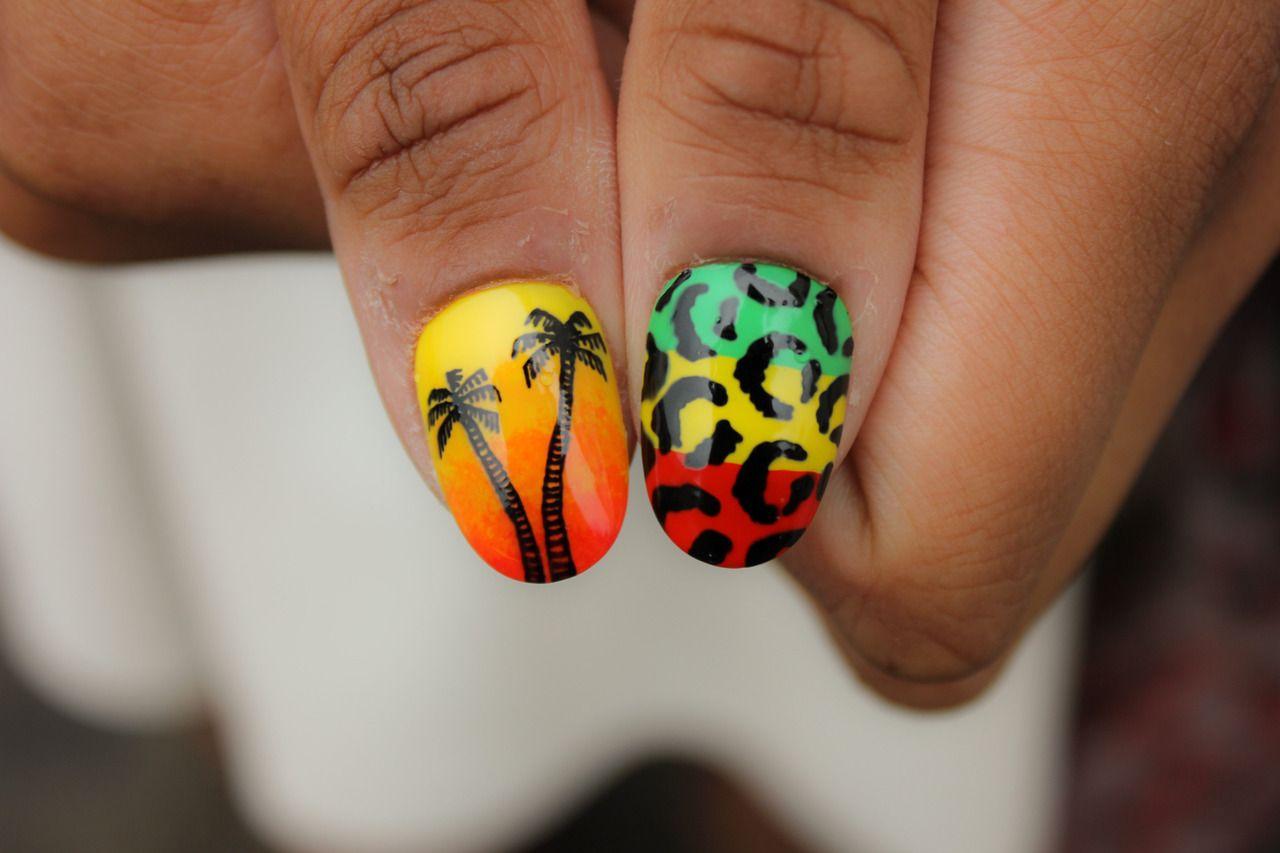 Jamaica inspired nails   Nails & Beauty   Pinterest