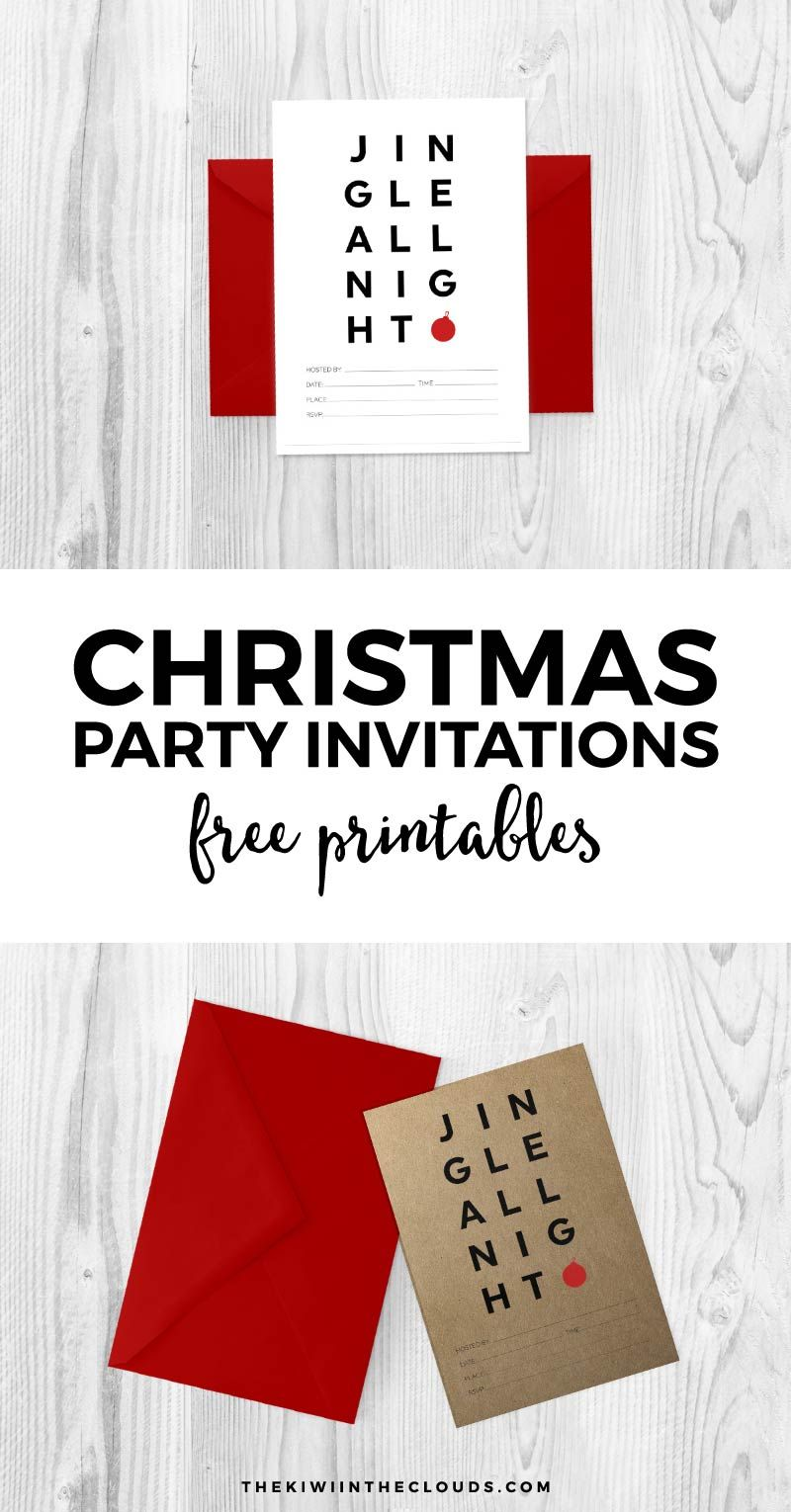 Free Printable Christmas Invitations To Rock Your Holiday Party ...