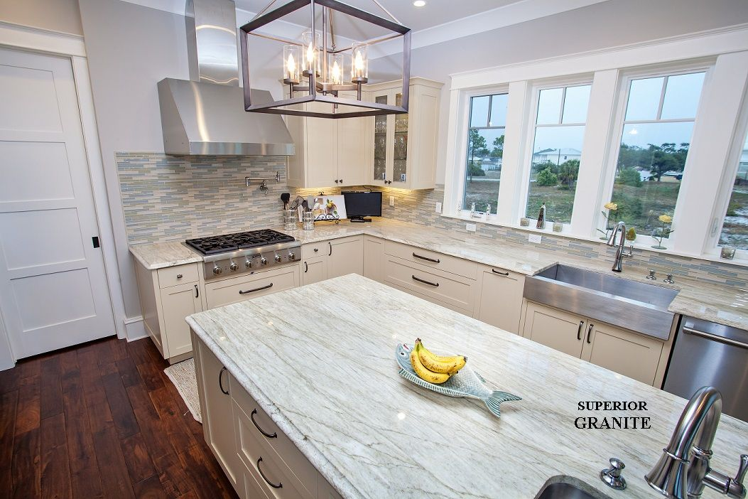 Aqua Venato Quartzite Kitchen Countertops #quartzite #kitchen Impressive Unique Kitchen Countertops Review