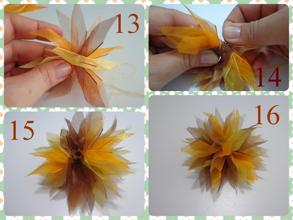 Fiorella Flores En Tela Tutorial 11 Flor En Cintas Para  ~ Lazos De Cinta De Raso Paso A Paso