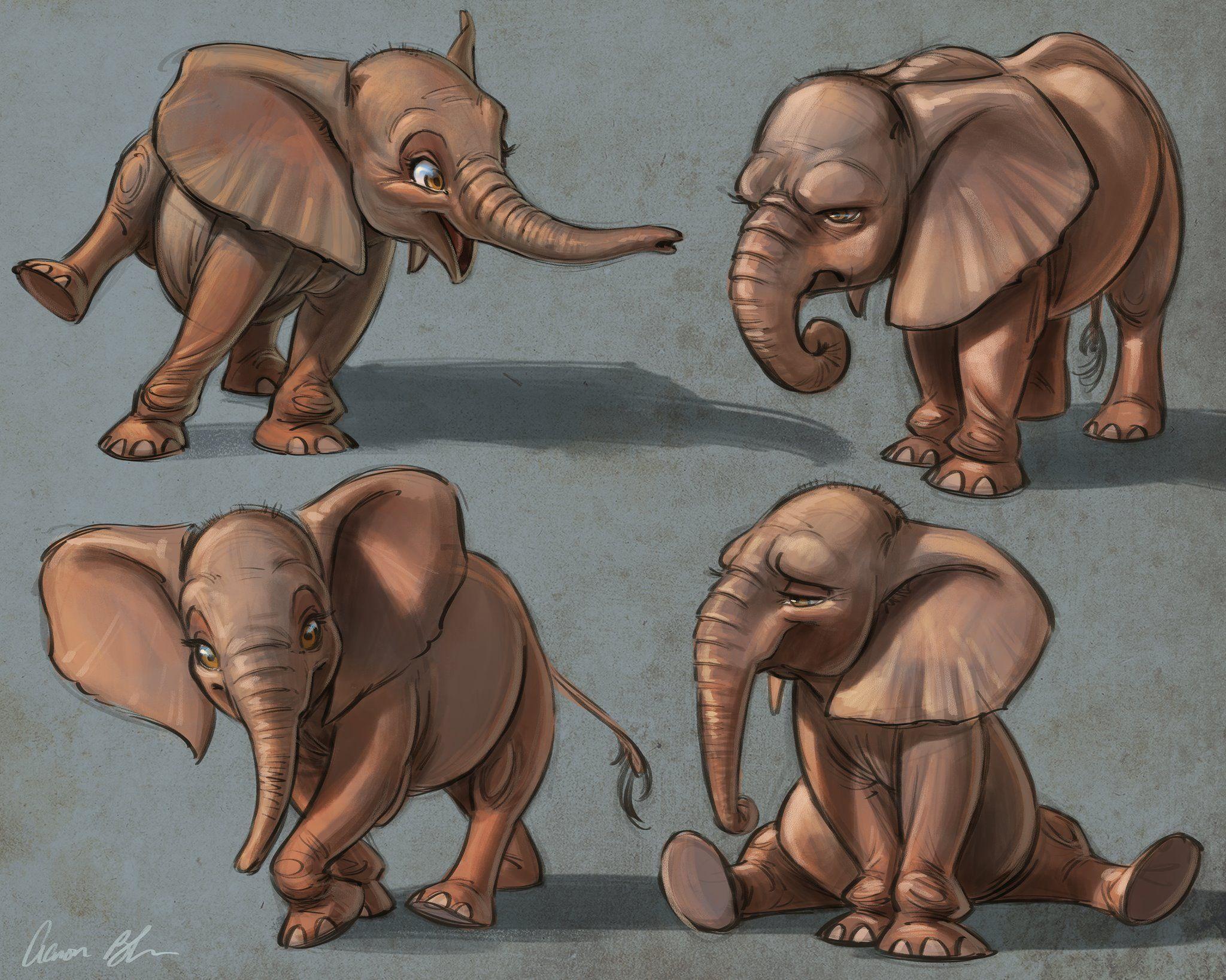 Little elephants by aaron blaise aaron blaiseeee in 2018 pinterest dessin l phant dessin - Dessin elephant ...