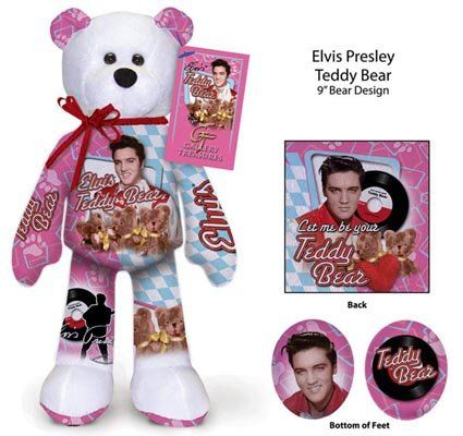 Elvis Presley-Beanie Bear Teddy Bear  cb9993b6ed41