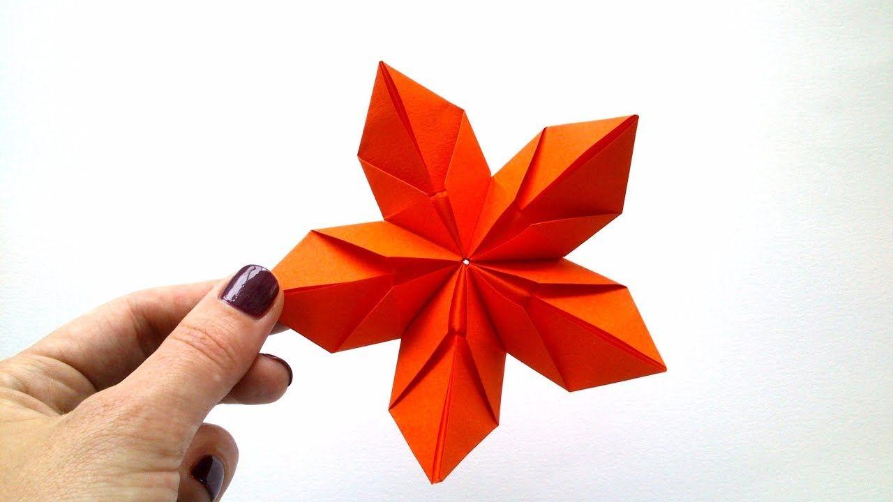 Modular Origami Flower Of 5 Petals Karcsony Pinterest