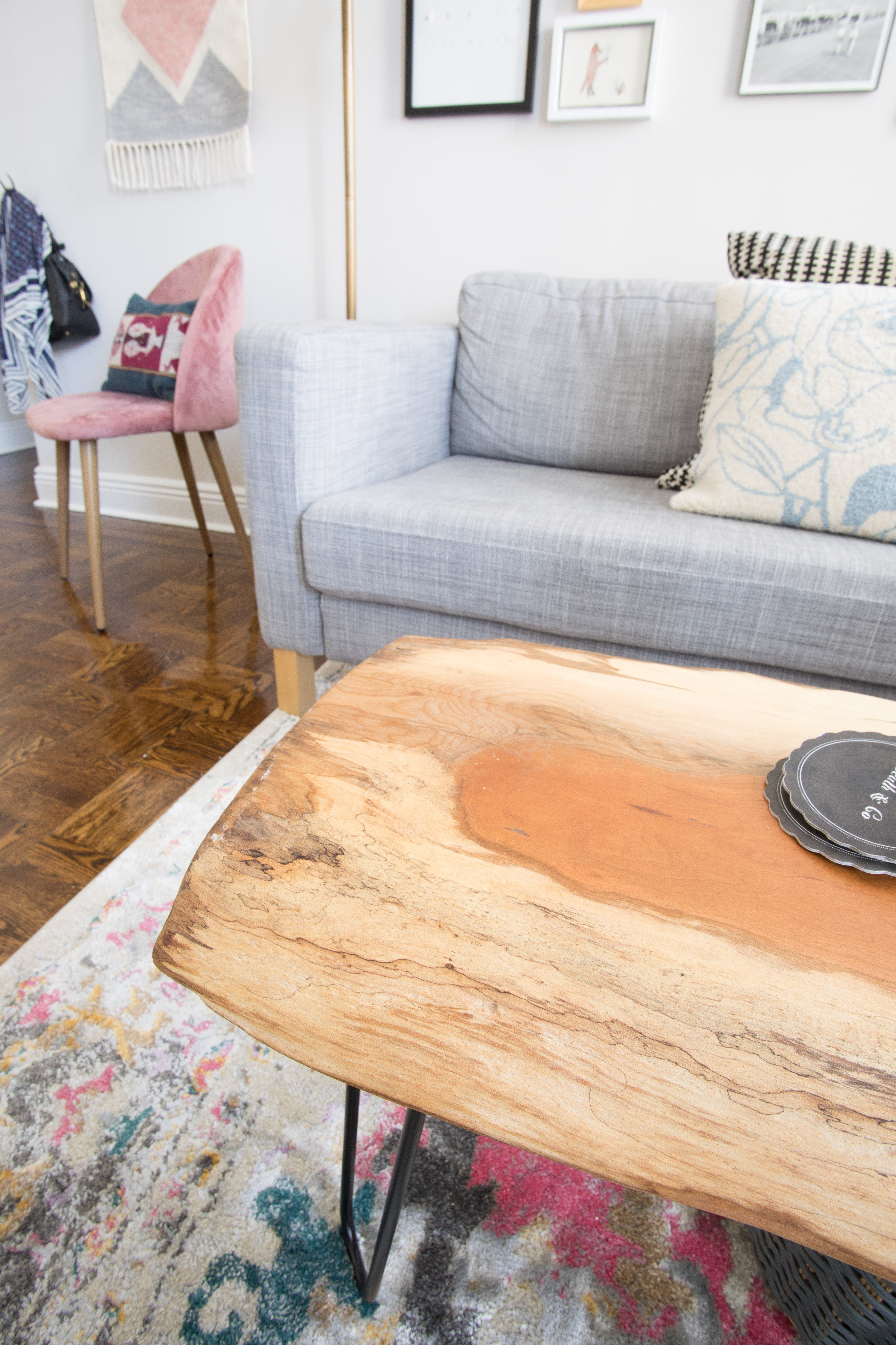 Proudest Diy My Coffee Table I Found The Live Edge Wood