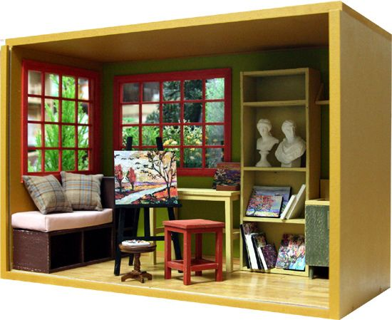 Barbie Bedroom In A Box: Miniature Rooms, Miniatures