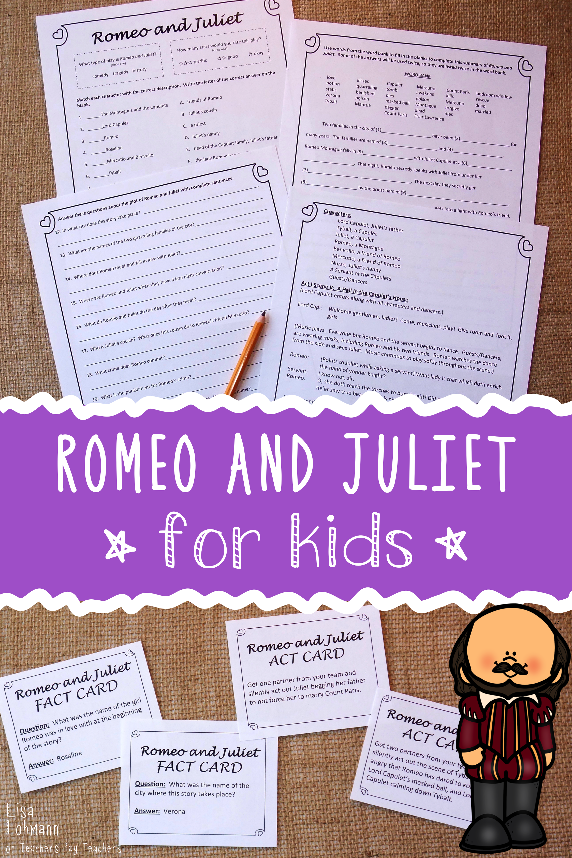 Shakespeare S Romeo And Juliet For Kids