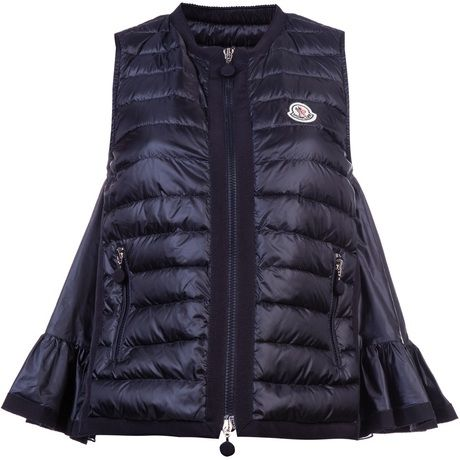 88b1378ec MONCLER Hitomi Vest - Lyst, say what?!?!? I dont know bout this ...