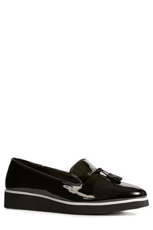 Buy Black Flatform Loafers from the