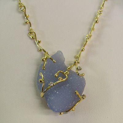 Italian necklaces chrysoberyl diamond and yellow gold handmade beautiful fabio pallanti chalcedony and gold necklace aloadofball Image collections