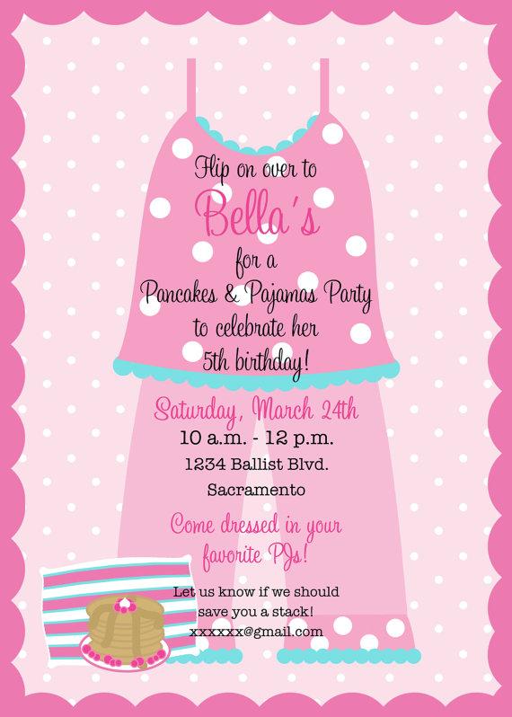 Pancakes and pajamas birthday party invitation printable party pancakes and pajamas birthday party invitation filmwisefo