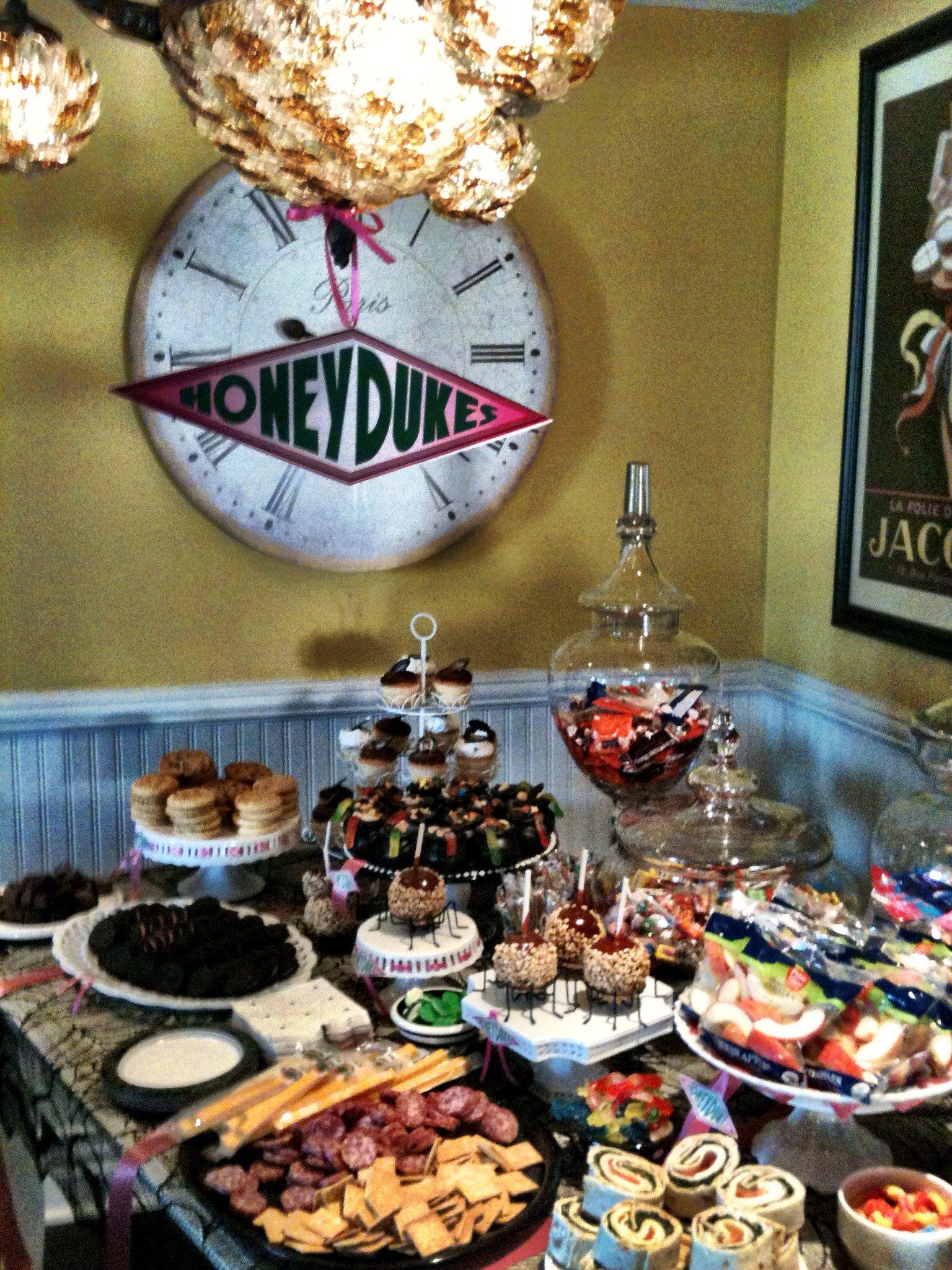 Harry Potter Party Honeydukes Party Food Treats Harry