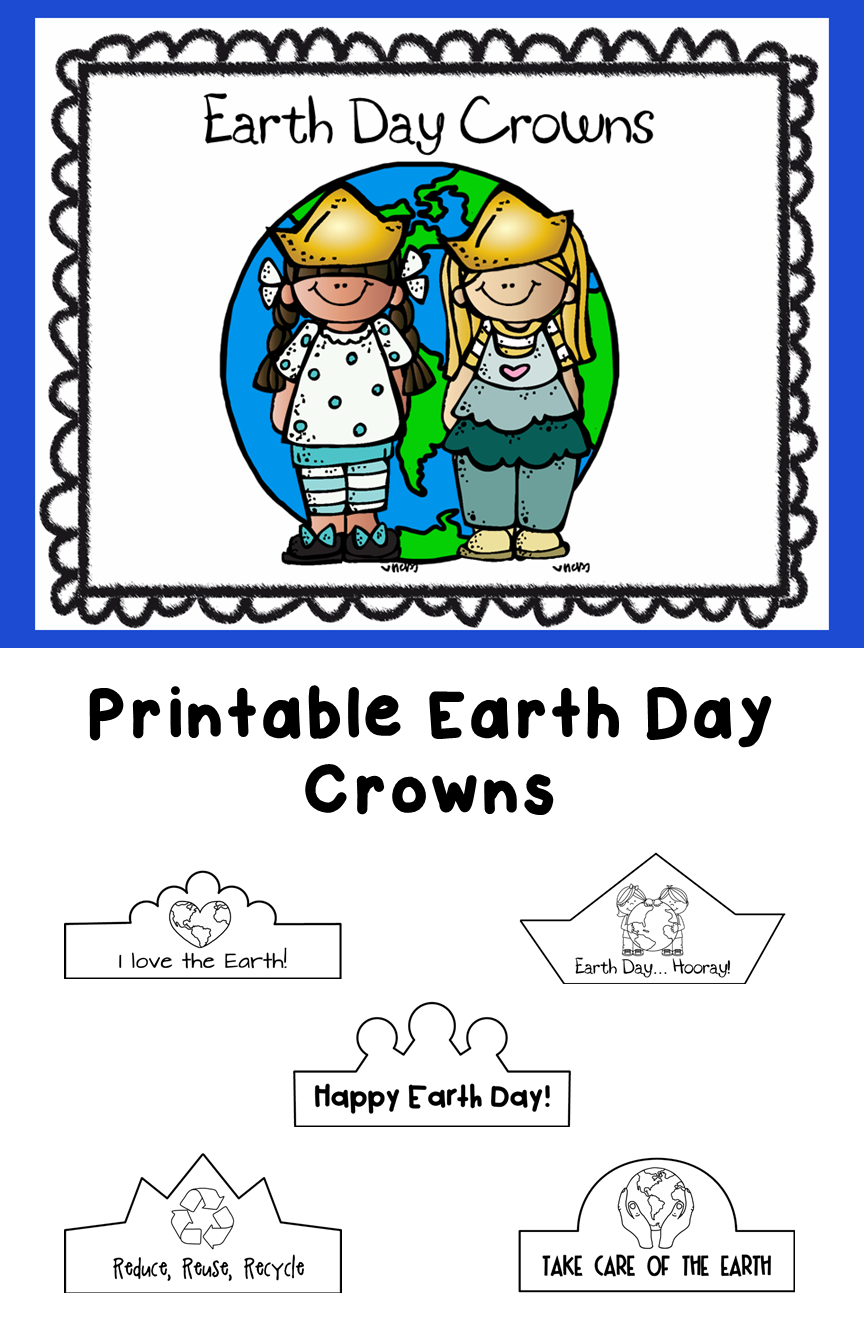 Earth Day Printable Crowns | Earth Day | Pinterest