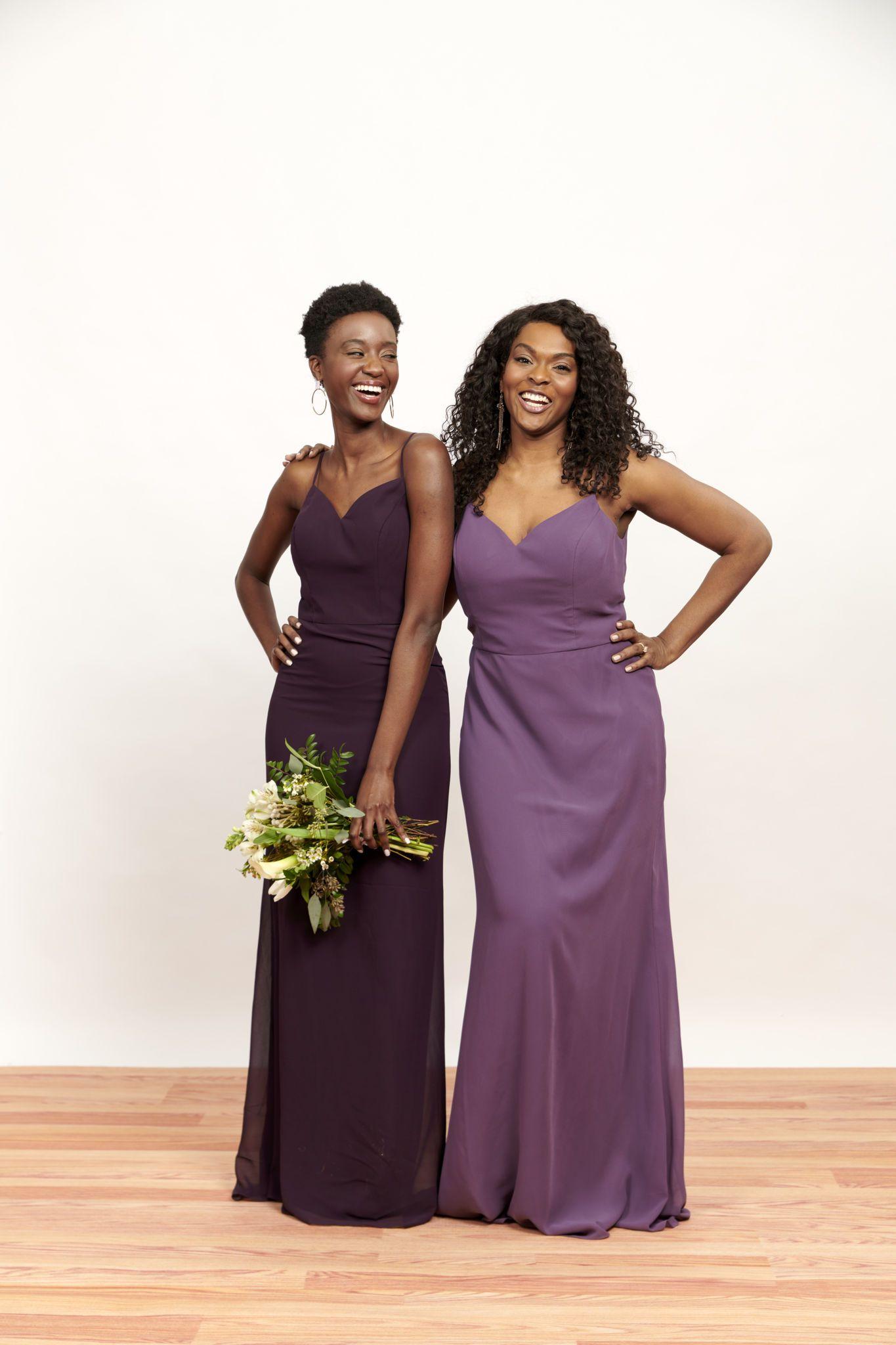 Looking For Purple Wedding Inspiration These Dark Purple Bridesmaid Dresses Give Us Ma Dark Purple Bridesmaid Dresses Bridesmaid Dresses Wedding Colors Purple,Wedding Dress Designs For Girls Kids