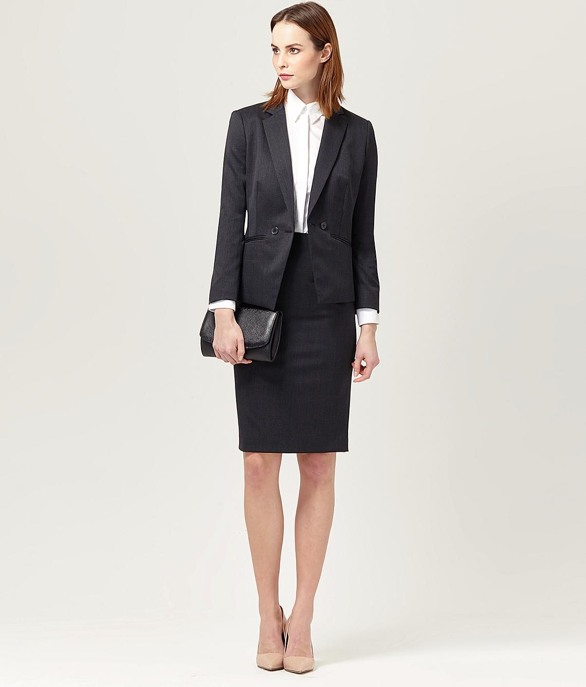 Prince Of Wales Check Skirt Suit Women S Suits Austin Reed Classic Skirts Skirt Suit Suits For Women