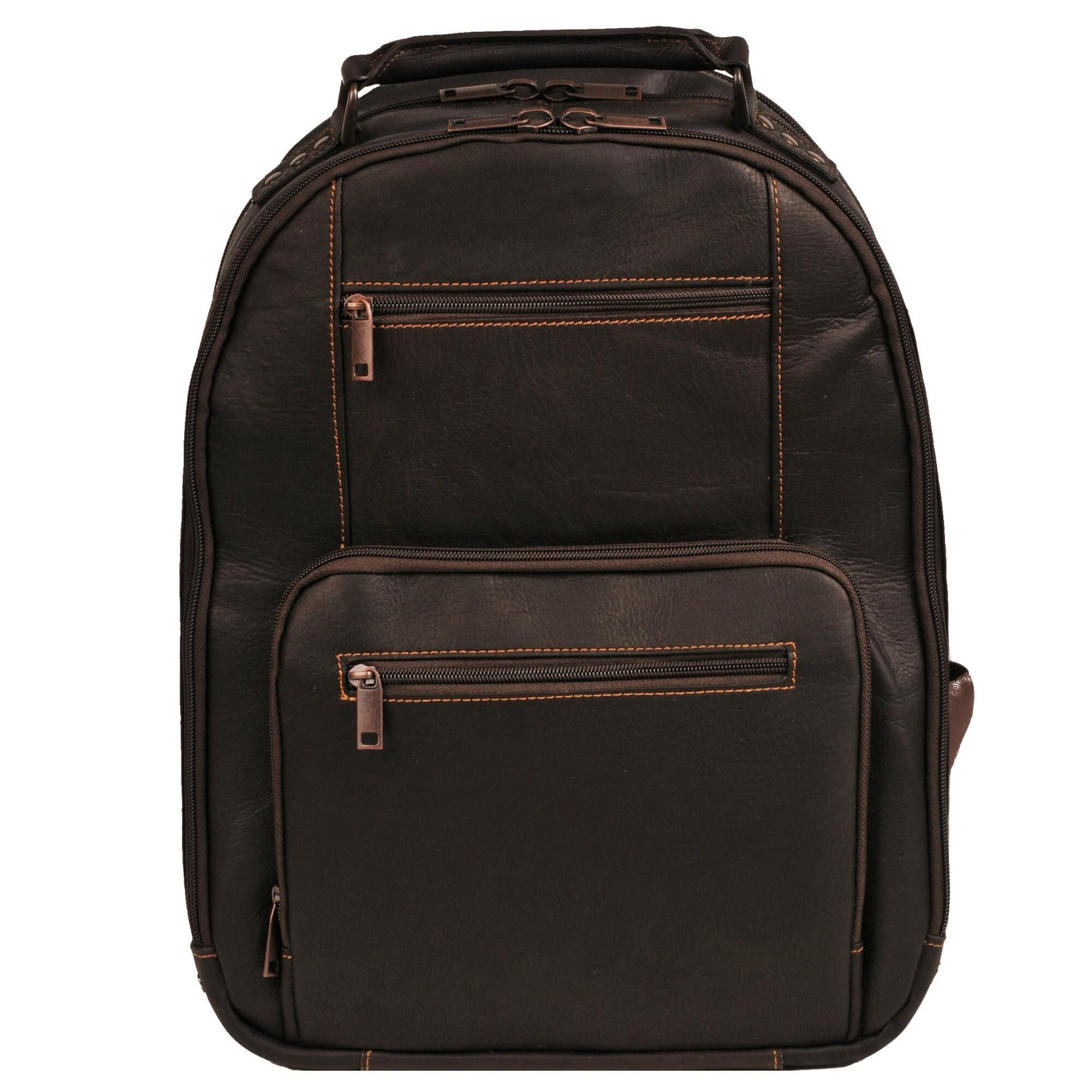Wilsons Leather Vacqueta Leather Laptop Backpack Leather