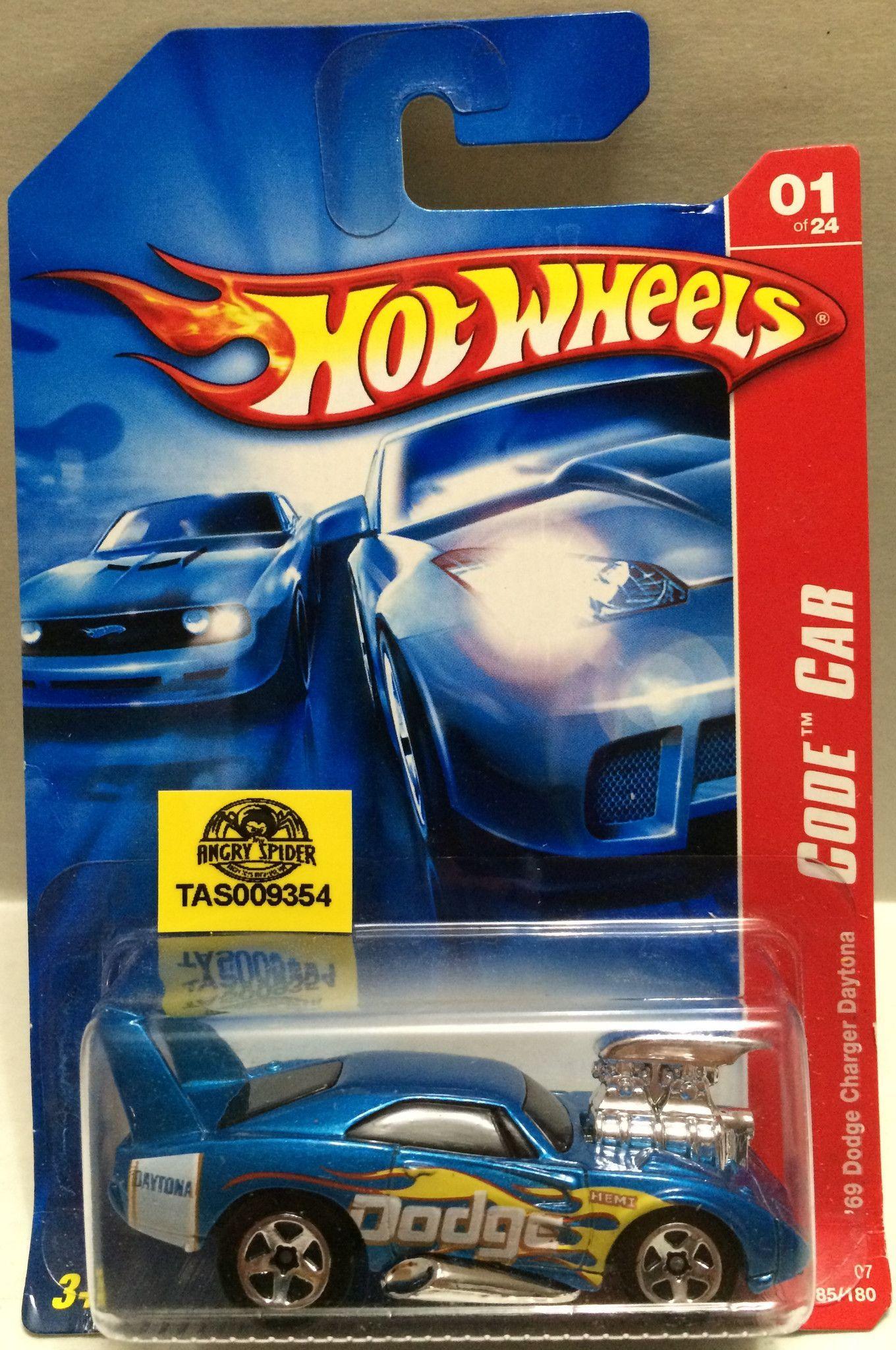 Tas009354 Hot Wheels Die Cast 69 Dodge Charger Daytona Code Car