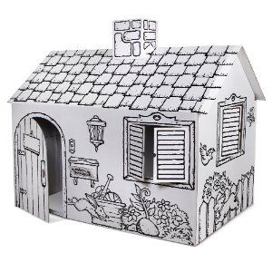 Discovery Kids Cardboard Color Me Play House | Pretend Play ...