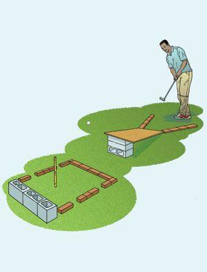 Diy Mini Golf Easy Campground Mini Golf Miniature Golf Course Miniature Golf