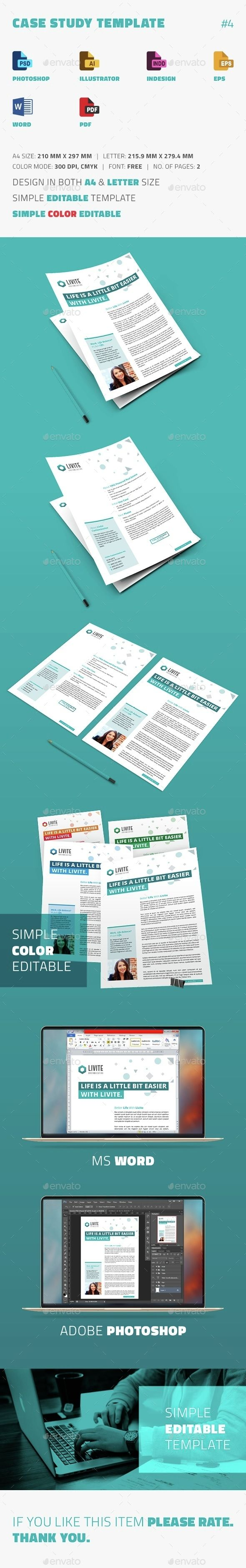 Case Study Template  Template Newsletter Templates And Print