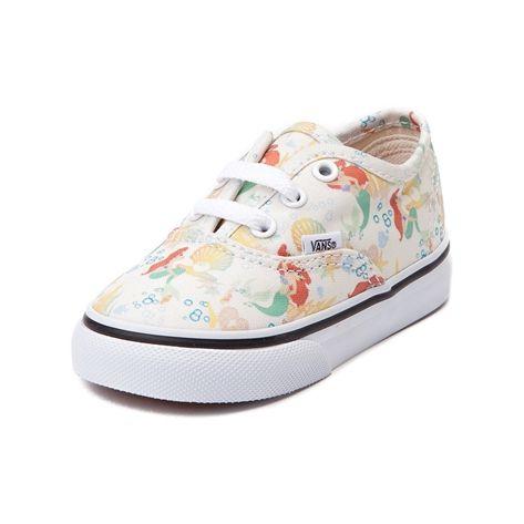 da824b3d7d Shop for Toddler Disney x Vans Authentic Ariel Skate Shoe, White, at ...