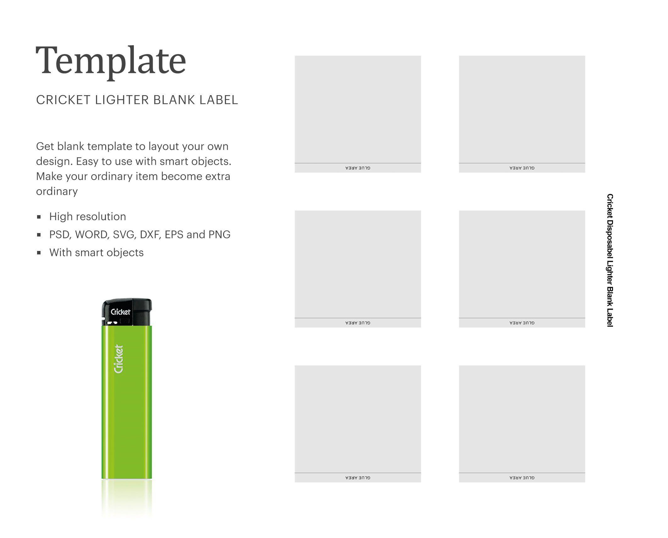 Custom Cricket Lighter Label Paper Size 8 5 A X 11 A Ad Advertisement Ad Lighter Cricket Paper Label Cricket Lighter Paper Size Templates